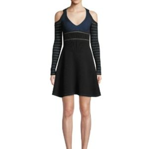 Opening Ceremony -S- Halter Ribbed Flare Dress